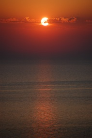 Sun Setting on Lake Michigan
