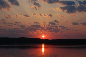 Sunrise over Old Mission Peninsula