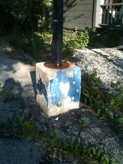 Graffiti Heart Lightpost