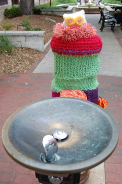 Knit Owl Fountain