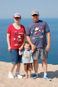 Nana, Papa & Jackson @ Sleeping Bear
