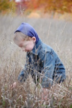 Jackson Crouched in Tall Grass