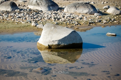 Rock's Shadowed Reflection