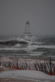 Wind at Ludington Lighthouse