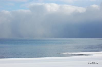 Lake Michigan Winter Clouds