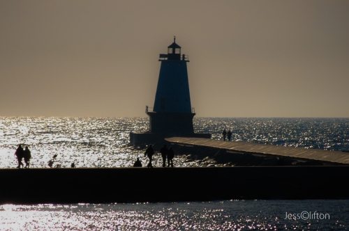 Ludington Lighthouse Silhouette