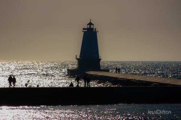Ludington Lighthouse Silhouette