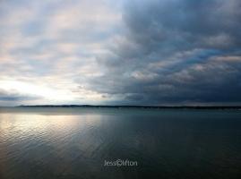 Mixed skies over Torch Lake