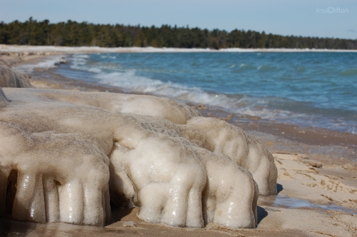 Beach Ice Formations