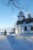 Mission Point Lighthouse Winter