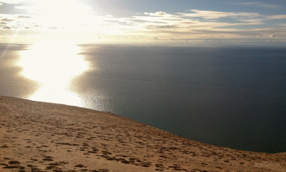 Sleeping Bear Dunes Sun Lake Michigan