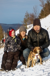 Family Winter Bluff Shot