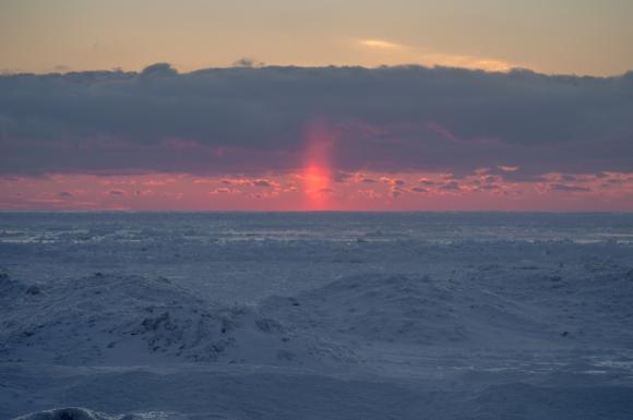 Leelanau Winter Sun Pillar